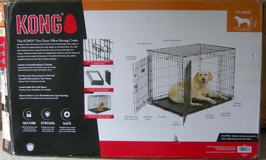 Dog Cage Crate X Large Kong Brand In Torquay Devon Gumtree