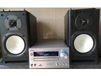 140 watts ONKYO CR515DAB DAB FM CD-player Amplifier Amp + 2 Way Monitor speakers