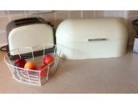 Toaster bread bin fruit bowl