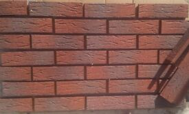 Brick slips/tiles. Red Sanded. ref.335-RF.