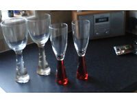 Modern wineglasses