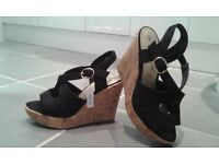 Brand New Black Wedges size 3