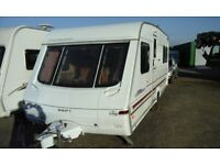 1999 Swift Challenger 500SE, fixed bed 4 berth caravan, awning & extras