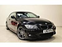 BMW 3 SERIES 2.0 320D M SPORT 2d AUTO 181 BHP AIR CON + BLUETOOTH + LEATHERS (black) 2012