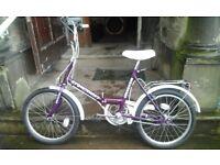 Stowaway 3 fold up bike