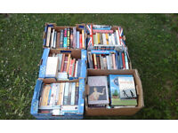 6 x boxes of books. perfect for trader/car boot. Hardbacks and paperbacks, over 100 books