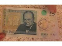 Five pound note- AK47012522