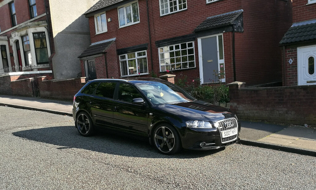 2007 audi a3 s line 2 0 tdi diesel black sportback 5 door black edition alloys 12 months. Black Bedroom Furniture Sets. Home Design Ideas