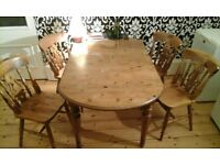 Rupert Street Sale: Dining Room Table & Chairs £40