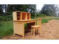 Solid wood childrens desk for sale. ( free delivery within 10 miles)