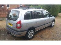 2003 Vauxhall Zafira 2.0dti Turbo Diesel 7 Seater, 107k Miles, Long Mot.