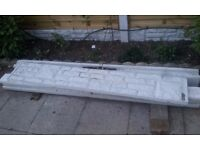 1 fence gravel board - decorated