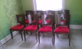 8 x Matching cafe chairs for sale