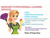 Margaret's Professional Cleaning Services