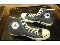 converse ankle shoes size 8.5 in denim blue colour