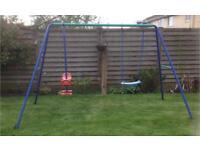 Children's garden swing set