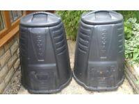 Compost Bins - 2 large plastic EcoMax bins
