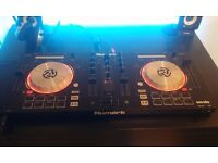"""Numark Mixtrack Pro 3 decks , 2.1 Speaker System, headset, """"HOW TO DJ PROPERLY"""" book and all cables!"""
