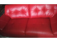 New! 3 seater Amaizing RED leather sofa