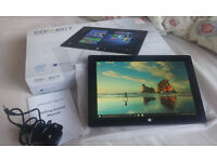 "10"" QuadCore 32gb Tablet -Windows 10 Office Mobile -KODI TV Movies Sports**Warranty** BOXED LIKE NEW"
