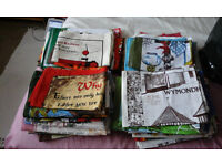 COLLECTION OF 80+ BRAND NEW COTTON TEA TOWELS