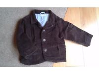 Boys smart corduroy coat jacket age 18-24 months JoJo Maman Bebe