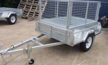 6x4 Heavy Duty Galvanised Caged Trailer