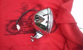 Chopper Bobber Harley Custom Bates style Headlight