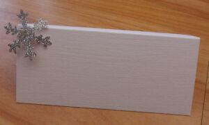 10 x Winter Wedding Place cards, Snowflakes, Christmas, Name Cards, Plain, Xmas