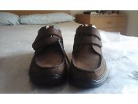 Gents Casual Shoes - size 8.5 & 10.5, extra wide, brown hide