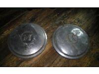 Vintage Morris Minor hub caps x2