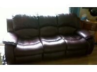 Leather 3 + 2 recliner sofas £125 Antrim