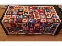 Handmade crochet colourful blanket