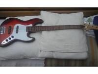 Bass Guitar by Wesley Jazz in red £150.00 ono very good condition