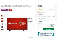 Hisense H55N5300 55 Inch 4K Ultra HD Smart TV