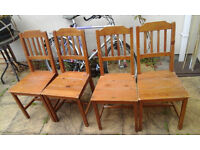 Ikea Jokkmokk dining table with 4 chairs