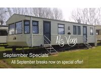 Privately Owned 3-bed STATIC CARAVAN for Holiday Lets ONLY: ASHCROFT COAST, Park Resorts