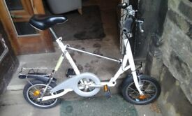 Fold up bike with carry case in good condition