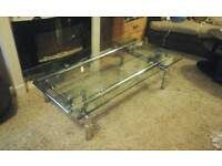 Glass and chrome extending coffee table feel free to contact me