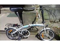 Pro team folding bike with carry case