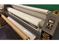 2 Large Format Easymount Laminators HOT & COLD 1700mm IS £1400 and COLD 1400c IS £800