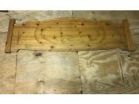 Pine headboard for king size bed