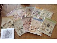 40 Embroidery Cross Stitch Pattern Cards