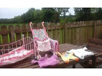 Cot, Buggy and dolls clothes