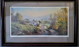 Rex Preston print signed and framed