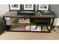 Swoon TV stand and living room shelves made from Mango Wood