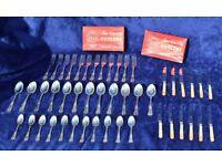 Silver Plated EPNS A1 Kings Pattern Sheffield Vintage Cutlery 47 Piece Set