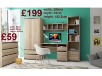 BRAND NEW Wall Units Offcie Children Room (Desk, Wardrobe, Shelving, Cupboard etc.) FREE DELIVERY