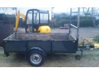 Trailer 8x4 galvanised braked