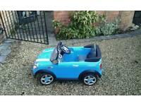Electric kids car mini cooper
